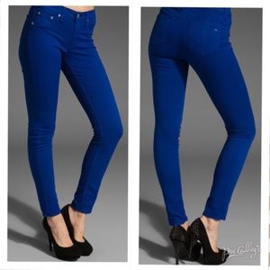 Rag & Bone Royal Blue Legging Jeans